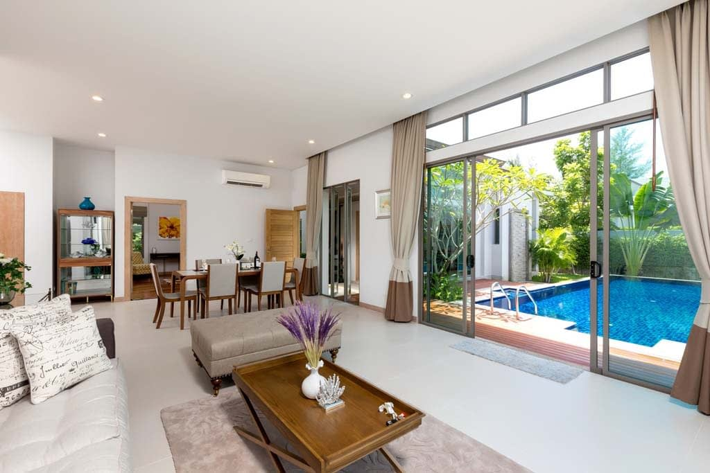 This 3 bedroom / 4 bathroom Villa for sale is located in Cherng Talay on Phuket